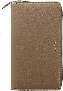 Filofax Saffiano Personal Compact Zip Organizer - Fawn