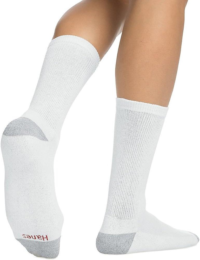 Hanes Men's Cushion Crew Socks,White,2Pk (20 Pairs) 10-13 shoe size:6-12