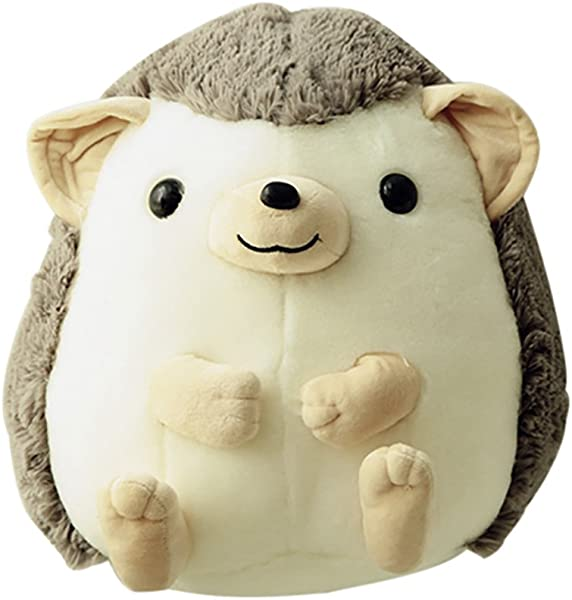 Funif Cute Throw Pillow Stuffed Plush Animal Toys For Kids Doll Gift Hedgehog Shape Back Cushion Home Decoration Gray 13 8