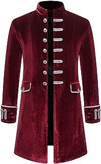 SHYY Giacche da Uomo Cappotti Steampunk Punk Giacca Lunga retrò 2020 Autunno Inverno Monopetto Costume Medievale Uniforme ...