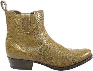 Sendra Boots Kahki 10863 Bottines de cowboy Western Jodhpur avec nez rond et talon droit et fermeture Éclair en cuir vérit...