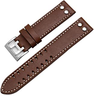 20mm / 22mm Leather Watch Band Strap Fits for Hamilton Khaki Field Aviation H70595593
