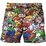 LIANGJI Shorts de Playa Mario Divertido 3D Mario-Brothers Cartoon Boy Pants Novela clásico Juego Cosplay Girl Boy Shorts Verano Adolescente Ropa para niños Baby Beach Swimmin Talla M