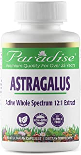 Paradise Herbs - Astragalus - Supports Energy + Vitality + Digestion + Supports Immunity + Helps Boost Metabolism + Helps ...