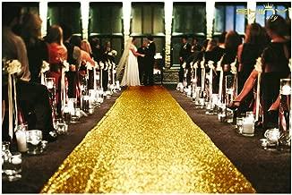 gold floor runners for weddings
