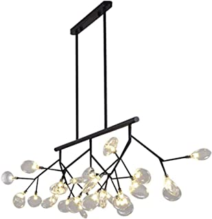 Chandelier, Contemporary Rectangle Firefly Chandeliers Lighting 27-Lights Clear Glass and Polychrome LED G4 Indoor Island ...