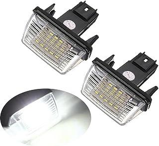 GZCRDZ 2 stücke 12 V Led Nummer Kennzeichenbeleuchtung Lampen Für 206 207 306 307 308 406 407 5008 C3 C3 Ii C3 C4 C5 (weiß)