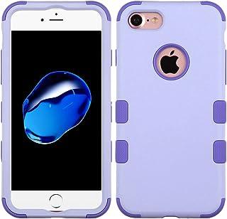 Funda Case para iPhone 7 Doble Protector de Uso Rudo Funda Anti Impactos Resistente a Caídas (Lavanda)