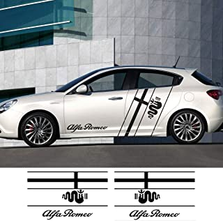 HLLebw Auto Adesivi Decorativi per Gonna Adesivi for Alfa Romeo Giulia Giulietta 159 156 Mito Stelvio 147 Sportiva GT