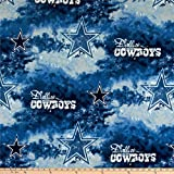 Fabric Traditions NFL Fleece Dallas Cowboys, Yard, Blue/White