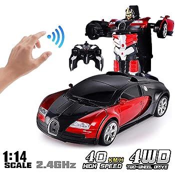 Musica elettronica deformazione AUTO GIOCATTOLI Cool Luce Trasformatore AUTO ROBOT toys