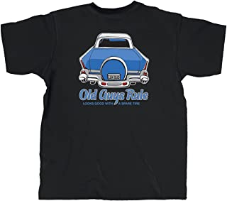 T Shirt for Men | Spare Tire | Cool, Funny Graphic Tee for Dad, Husband, Grandfather Gift | Black