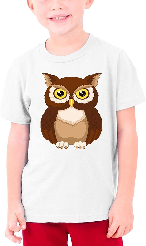 Owl 100% Cotton Tshirts Cartoon Shirt Girls Boy Casual Tee Shirt Short Sleeve Top Teenage Graphic T Shirt