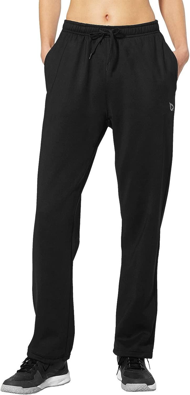 バリーフWomen 's Running Thermal Fleece Pant Zipポケットスウェットパンツ