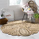 Safavieh Natural Fiber Collection NF360A Hand-woven Jute Area Rug, 3' x 3'...