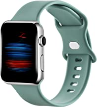 Gleiven Compatible with Apple Watch Bands 38mm 40mm 42mm 44mm for Women Men,Sport Soft Silicone Replacement Wristbands for...