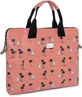 KLEIO Unsiex Printed Vegan Leather Laptop Handbag For Women/Men