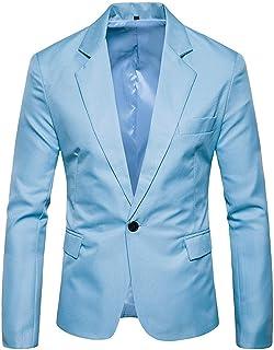 37ccb938d6d589 Homebaby Blazer Uomo Giacca Elegante Formale Blazer Basse Slim Fit Taglie  Forti Giacca da Abito Fiesta