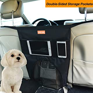 Leke Lake Pet Car Backseat Barrier Adjustable for Safe Travel Driving, Car Seat Organizer Easy to Install and Adjust for All Cars