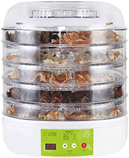 JUAN Digital Food Dehydrator, 5-Layer ABS Tray Adjustable Temperature Timing Touch Panel For Camping Dehydrated Food Hot P...