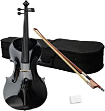 Acoustic Viola with Case, Bow, Rosin for Beginners Student, Viola Starter Kit (16 Inch, Black)