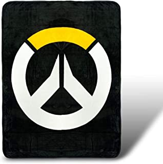 Overwatch Fleece Blanket - Licensed Blizzard Merchandise - Novelty Bedding Accessories - Cool Office and Home Decor - Unique Gaming Token for Birthdays, Holidays, House Warming Parties