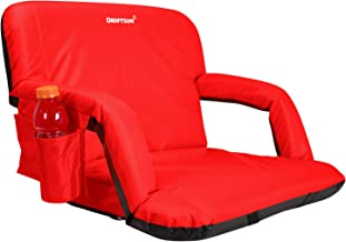 Driftsun Extra Wide Deluxe Reclining Stadium Seat, Bleacher Chair with Back Support, Folding Sport Chair Reclines Perfect for Bleachers Lawns and Backyards, Expanded Width