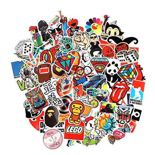 10 Series Stickers 100 pcs/Pack Stickers Variety Vinyl Car Sticker Motorcycle Bicycle Luggage Decal Graffiti Computer Skateboard Stickers for Laptop Stickers for Kid Adult Teens (Series A)