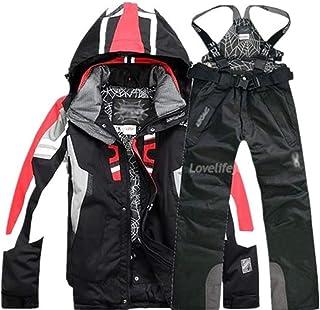 Men Winter Waterproof Outdoor Coat + Pants Ski Suit Sets Jacket Coat Snowboard