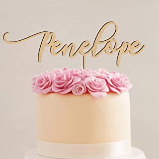 Personalized Custom Name Birthday Wood Cake Topper Thick Birch