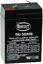 AMERICAN HUNTER Rechargeable Battery 30008 6 Volt Lead Acid 4.5 mAh