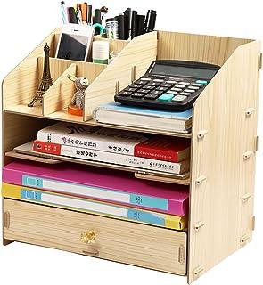 Dongxiao Organisateur de Bureau avec tiroirs de Rangement Bibliothèque de Rangement pour Crayons marqueurs Effacer Les gom...