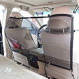 Candora - Barrera de seguridad de coche para mascota –Red de seguridad para coche que...