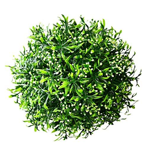 HXCD Kunstrasen-Kugel Pflanzen Erdnuss-Gras-Kugel Rot Lila Schaufensterdekoration Hotel-Ornamente Künstliche Gras-Kugel, 25 cm