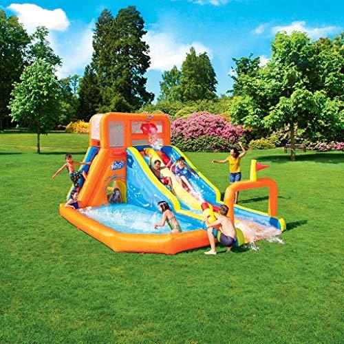 Los niños al Aire Libre Patio Jardín Familiar niños Inflable rociador Aerosol de Agua de la Gorila Inflable de Diapositivas Pirata Agua Park Pool Slide