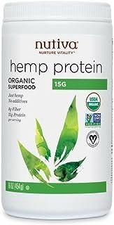 Nutiva Hemp Protein, Organic Superfood, Cold-Pressed Hemp Oil, 16 Fl Oz, 15 Servings, Vegan, Non-GMO, 15g Protein Per Serv...