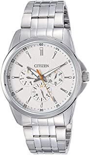 Citizen Men's White Dial Stainless Steel Band Watch - AG8340-58A