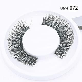 4 Pcs Magnetic False Eyelashes Full Coverage Eyelashes Extension Applicator Natural Long Wispies Lashes Handmade (Style 072)