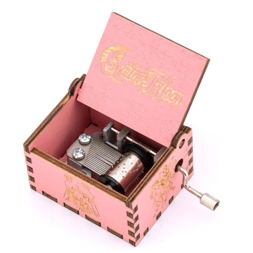 Bhu Red Dragon Ball - Caja de música de madera con manivela para niños, diseño de bola de dragón rojo: Amazon.es: Hogar