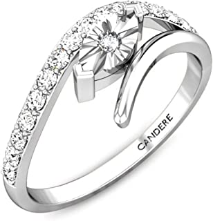 Candere by Kalyan Jewellers 18k (750) Yellow Gold and Diamond Miracle Plate Ring for Women