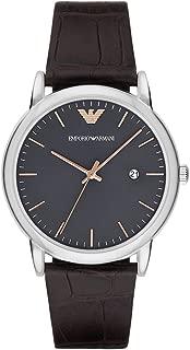 Emporio Armani Men's AR1996 Dress Brown Leather Quartz Watch