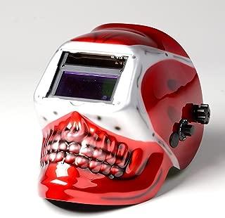 ATE Pro. USA 41112 Red Skull Auto Darkening Lens Solar Welding Helmet