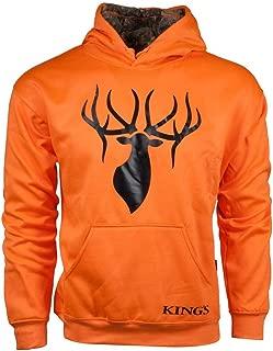 King's Camo Blaze Orange-Desert Shadow Poly Logo Hoodie (Kbz415-Bz/Ds)