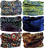 VANCROWN Headwear Wide Headbands Scarf Head Wrap Mask Neck Warmer...