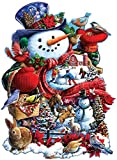 Happy Holiday Snowman is a 750 piece shaped jigsaw puzzle designed by Larry Jones. Our Jigsaw Puzzles are made with recycled cardboard. Die-cut puzzle pieces are easy to handle - and no two are alike. Our 750 Piece Puzzles are exciting and challengin...