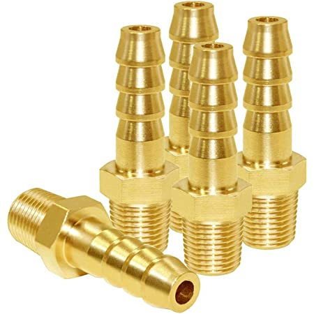 KOOTANS 4pcs 5//16 Hose Barb to 1//8 Male NPT Brass Quick Coupler Air M Type Fitting Quick-Connect Fitting