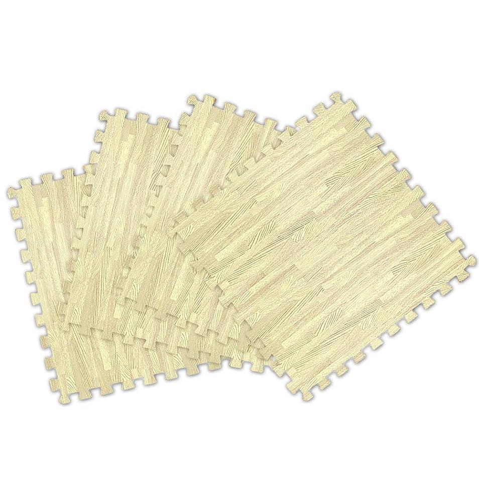 ジム不格好静かにWEIMALL 16枚セット 洗える ジョイントマット ノンホル 大判 60cm 16枚 ホワイト 木目調 サイドパーツ付 防音 断熱 床暖房対応 厚さ 2㎝