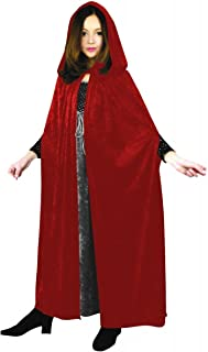 Charades Velvet Children's Costume Cloak, Red