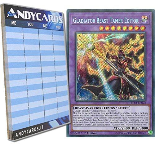 Andycards Yu-Gi-Oh! - Gladiator Beast Tamer Editor - Secret BLLR-EN023 in English Scorepad