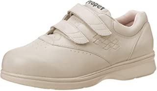 Propet Women's W3915 Vista Walker Sneaker,Bone Smooth,9 W (US Women's 9 D)
